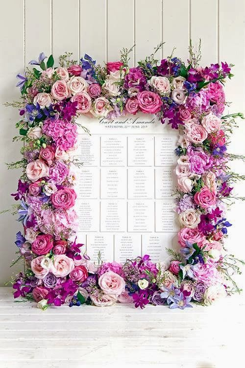 idees mariage rose violet blanc plan de table dcoration table Mademoiselle Cereza blog mariage