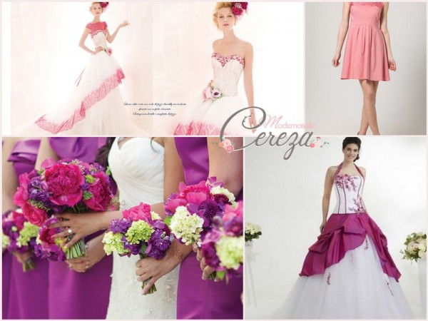 idees robe mariage violet rose blanc tenue temoin Mademoiselle Cereza blog mariage