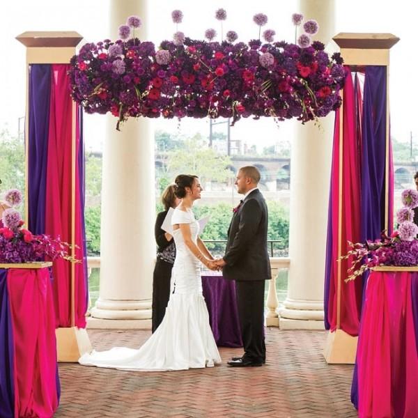 idees mariage rose violet blanc ceremonie laique decoration Mademoiselle Cereza blog mariage