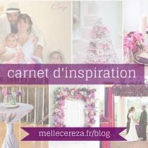idees mariage violet rose blanc carnet inspiration Mademoiselle Cereza blog mariage