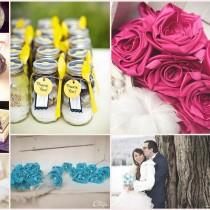 mariage coloré fuchsia turquoise bucolique accessoires bijoux sur-mesure cereza mademoiselle