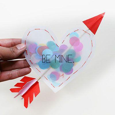 coeur confetti projet DIY st valentin Mademoiselle Cereza blog mariage