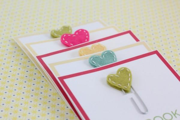idée cadeau st valentin mignon facile marque page coeur Mademoiselle Cereza blog mariage