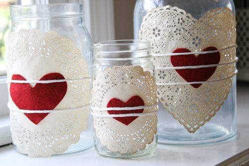 idee deco table st valentin flacon coeur dentelle Mademoiselle Cereza blog mariage