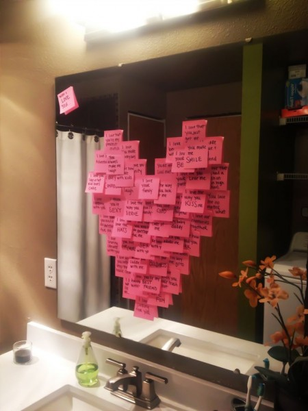 idée st valentin diy amoureux avec des posts it Mademoiselle Cereza blog mariage
