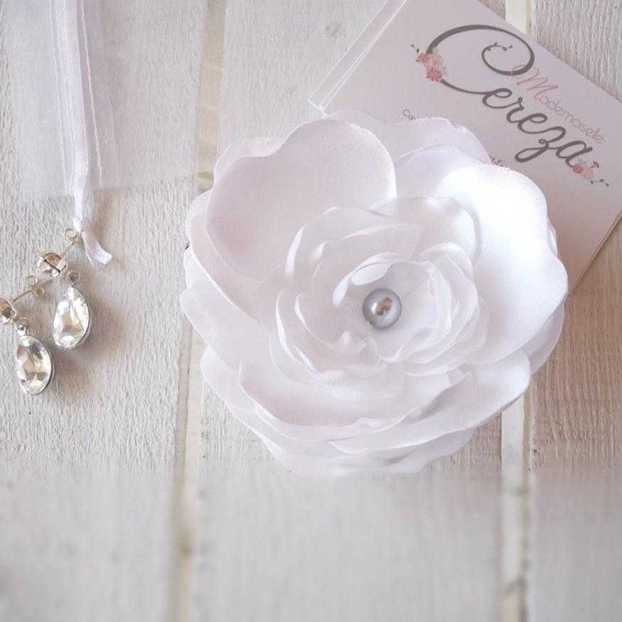 bijoux mariage bijou de tete boucle oreille cristal pivoine mariage gris blanc boucles oreille  strass cereza 1