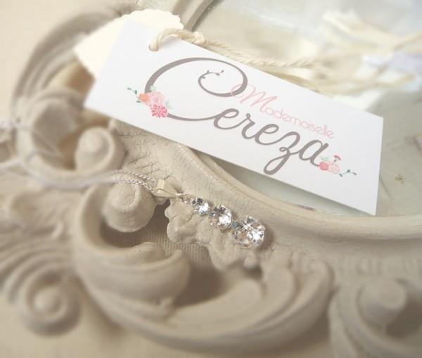 bijoux mariage personnalisables argent cristal collier cereza mademoiselle