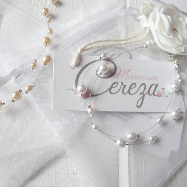bijoux mariage personnalisables perles bracelet collier cereza mademoiselle w