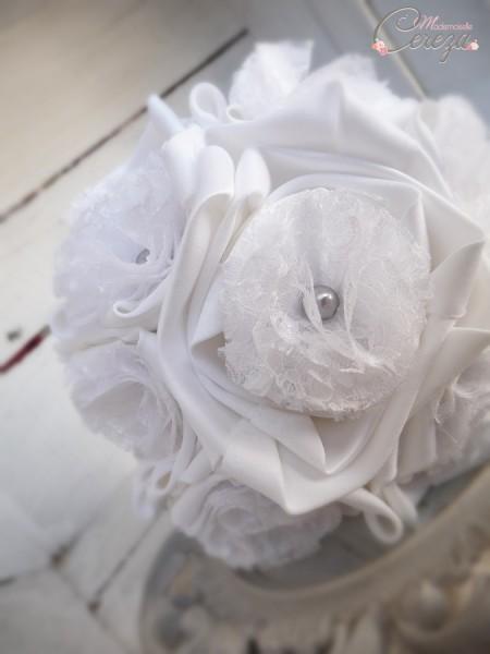 bouquet mariée dentelle satin blanc perle grise cereza mademoiselle 2