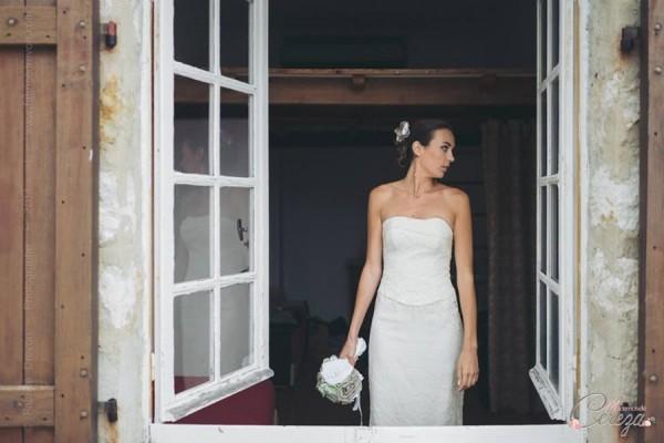 mariage nature champetre chic bouquet mariee original bijou de tete lin cereza mademoiselle 2