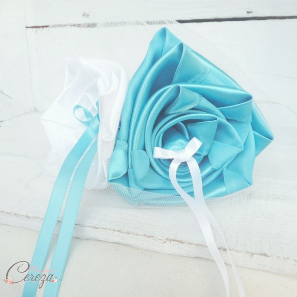 mariage turquoise blanc porte alliances original chic fleur cereza mademoiselle 2