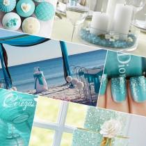 idées mariage turquoise blanc carnet inspiration mademoiselle cereza