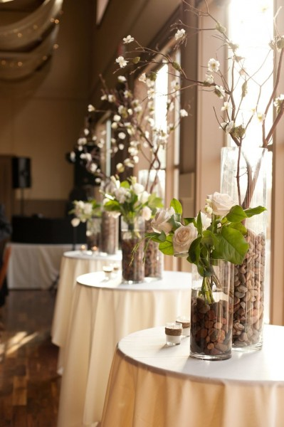centre table hauts idées déco table salle mariage élégant ivoire chocolat