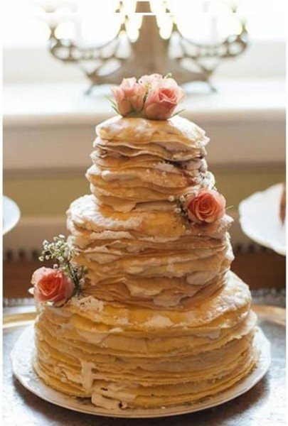 gateau de crepes dessert mariage original