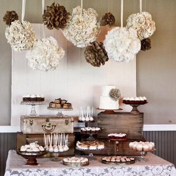 idée déco mariage ivoire chocolat élégant candy bar theme voyage