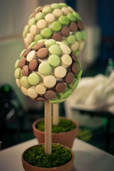 idées originales de dessert de mariage arbre macarons piece montee wedding cake
