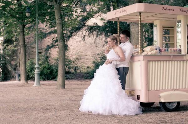 idées de dessert de mariage original bar à glaces