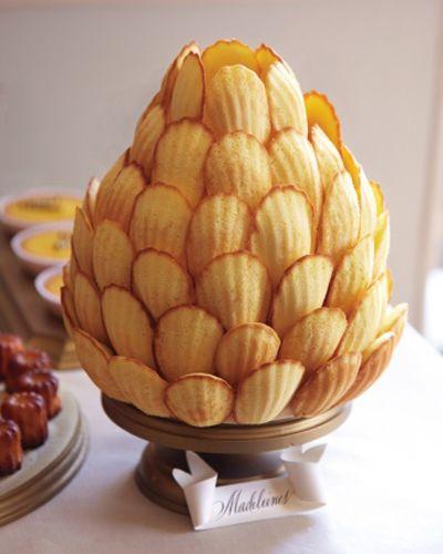 idées originales de dessert de mariage piece montee madeleines mariage wedding cake