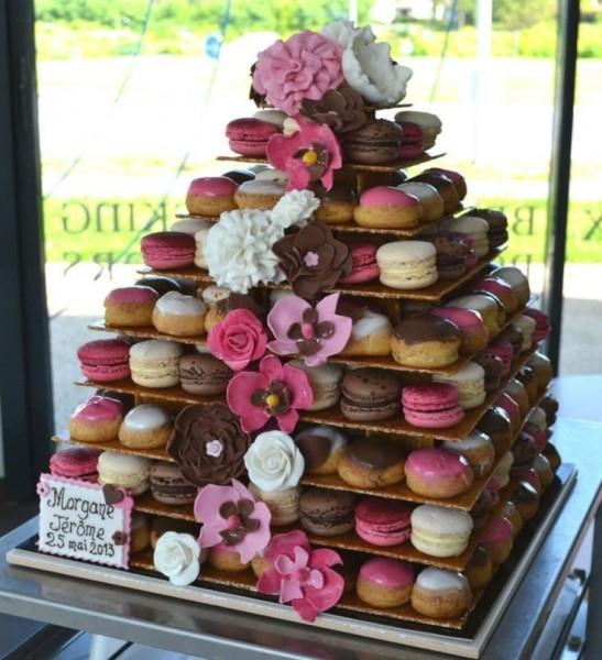 idées originales de dessert de mariage piece montee macarons choux