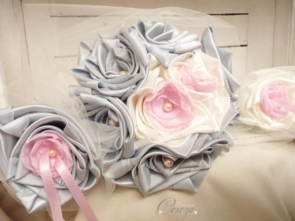 bouquet de mariée original fleurs de papier cereza mademoiselle