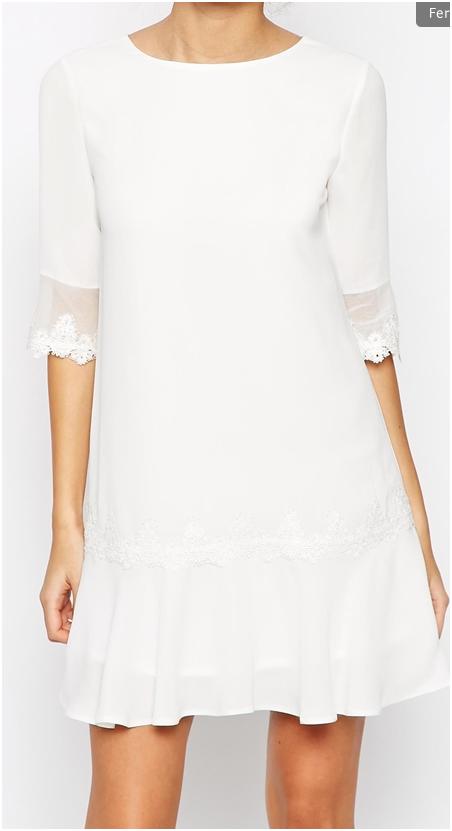 mariages élégants chics robe de mariée courte simple dentelle