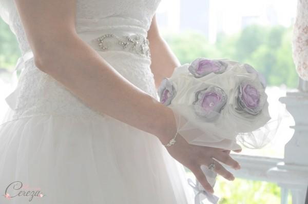 bouquet de mariee bijou dentelle personnalisable cereza mademoiselle