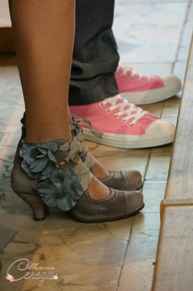 chaussures mariage original rose gris neosens