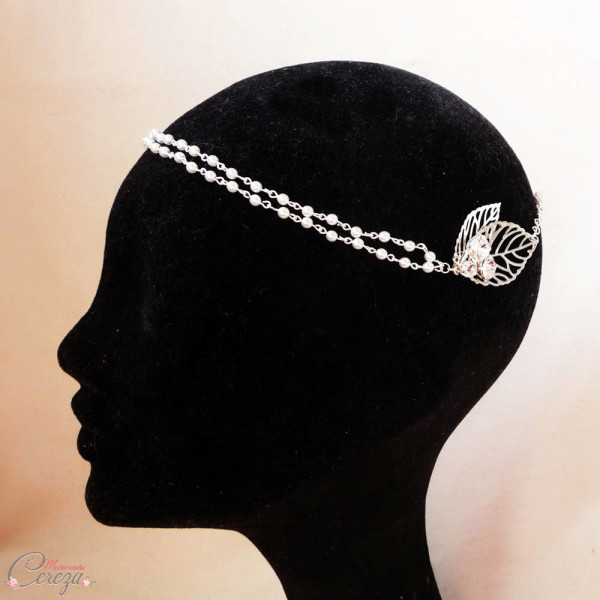 Headband mariage bohème chic perles cristal made in france