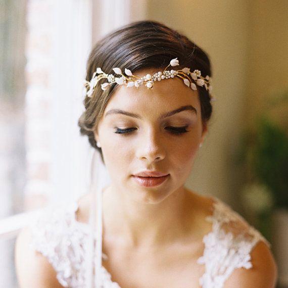 idée coiffure mariage headband couronne perlée 10
