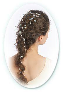 idée coiffure mariage headband couronne perlée 12