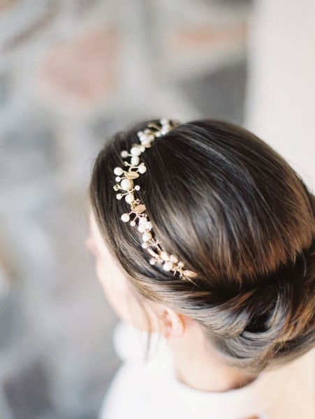 idée coiffure mariage headband couronne perlée 6