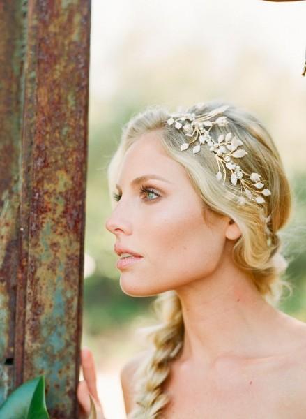 idée coiffure mariage headband couronne perlée 9