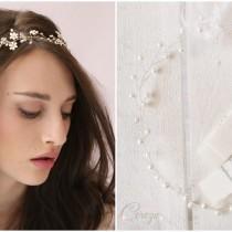 accessoires personnalisés idée coiffure mariage headband couronne perlée cereza mademoiselle