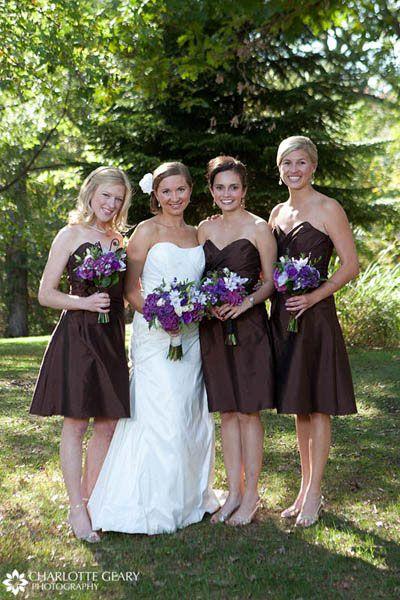 idées dress code tenues demoiselles honneur mariage ivoire chocolat 2