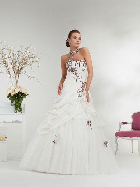 idées inspirations mariage ivoire chocolat robe Annie-Couture_AFFECTION
