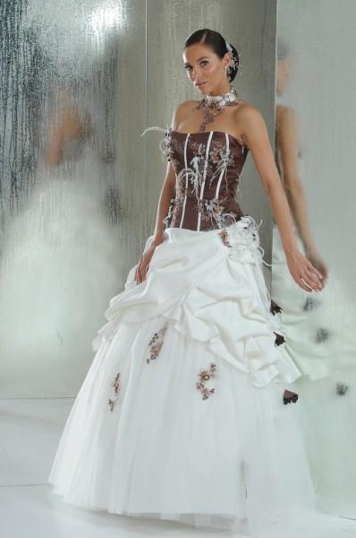 idées inspirations mariage ivoire chocolat robe annie couture alia