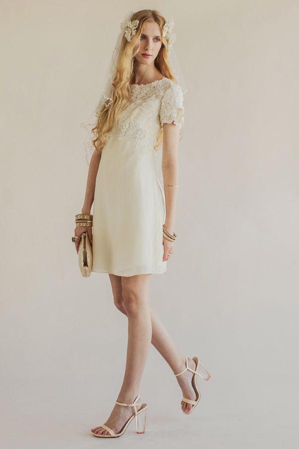 robe de mariée courte bohème vintage sélection stylée Crystal mini rue de seine