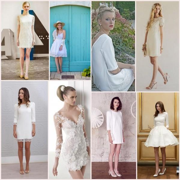 robe de mariée courte sélection stylée blog mariage cereza mademoiselle r