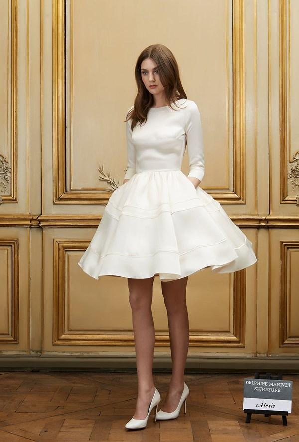 robe de mariée courte sélection stylée delphine-manivet-mariee-signature-2015-alexis r