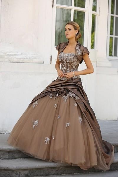 robe de mariée couture taupe chocolat ivoire ladybird