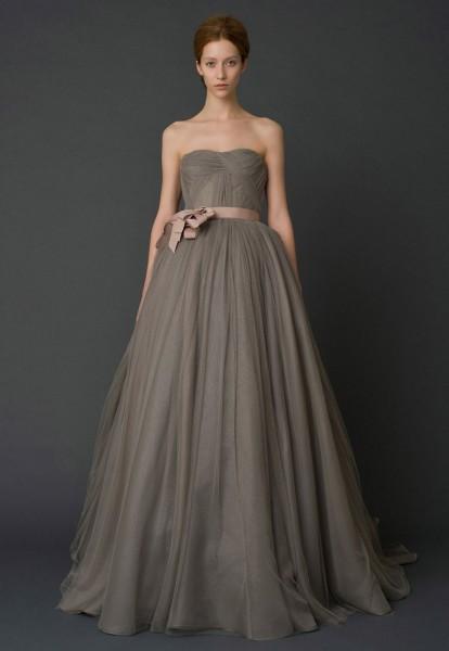 robe de mariée haute couture vera wang taupe -Harlow-