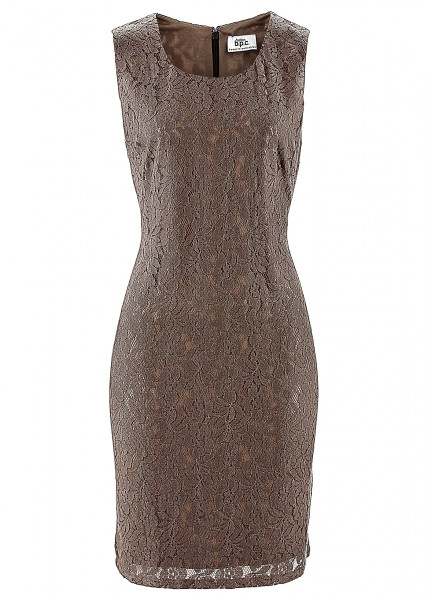 robe en dentelle marron chocolat tenue demoiselle honneur
