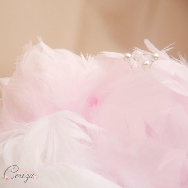 bouquet de mariée pivoine rose blanc plumes bijoux cereza mademoiselle (6)