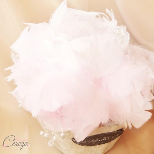 bouquet de mariée pivoine rose blanc plumes bijoux cereza mademoiselle (5)