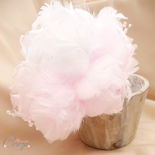 bouquet de mariée pivoine rose blanc plumes bijoux cereza mademoiselle (7)