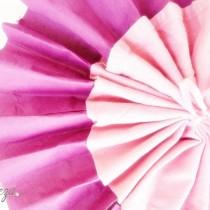 diy pliage de serviette évantail bicolore idée blog mariage original déco table cereza mademoiselle
