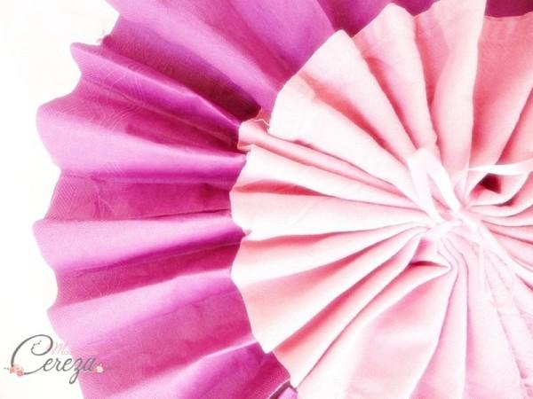 diy pliage de serviette éventail bicolore idée blog mariage original déco table cereza mademoiselle