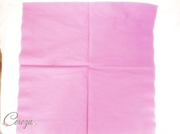 diy pliage de serviette éventail bicolore idée blog mariage original déco table cereza mademoiselle (3)