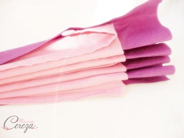 diy pliage de serviette éventail bicolore idée blog mariage original déco table cereza mademoiselle (5)