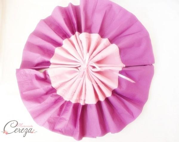 diy pliage de serviette évantail bicolore idée blog mariage original déco table cereza mademoiselle (9)